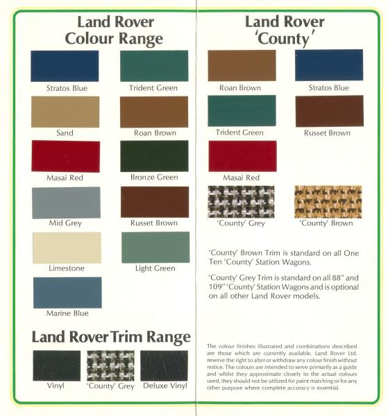 Land Rover Defender Paint Code Location