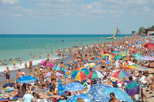 Strandleben auf der Krim