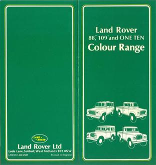 Broschüre Land Rover Farben - Seite 1