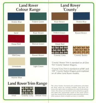 Broschüre Land Rover Farben - Seite 2